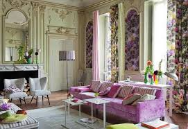 awesome eclectic living room decor with purple sofa and curtain charming eclectic living room ideas