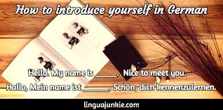 German Phrases  How To Introduce Yourself in German LinguaJunkie com Introduce yourself in German by Linguajunkie com
