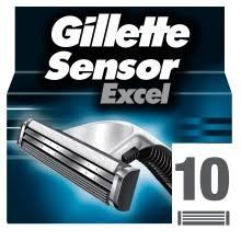 <b>Сменные</b> картриджи <b>Gillette Sensor excel</b>, 10 шт. - купить ...