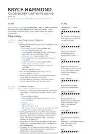 lead programmer magician resume samples game programmer resume
