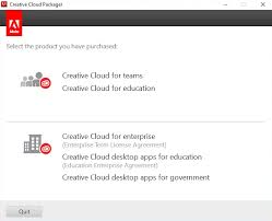Create packages for Adobe Creative Cloud