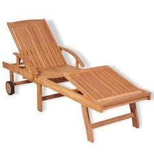 "Shop vidaXL <b>Sun Lounger Solid</b> Teak Wood - 76.8"" x 23.4"" x 13.8 ..."
