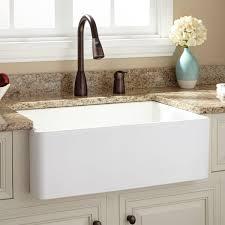 30 baldwin fireclay farmhouse sink smooth apron white apron kitchen sink