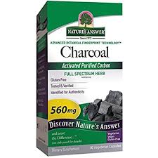 Buy Nature's Answer, <b>Charcoal</b>, <b>Activated Purified</b> Carbon, 560 mg ...