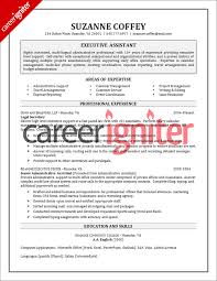 executive assistant resume sample   career igniterexecutive assistant resume sample