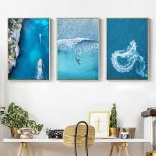 <b>Gohipang</b> Scandinavian Style Landscape Art Canvas Painting <b>Sea</b> ...