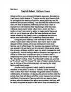 Persuasive essay school uniforms should be mandatory   Term paper     Ergo Arena Persuasive Essay On School Uniform Sample Persuasive Essay Against Persuasive Essays On School Uniforms Persuasive Essay