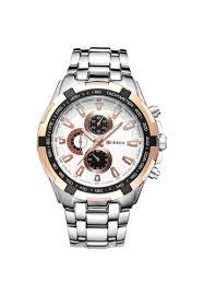 Buy <b>curren Curren 8023 Men's</b> Stainless Steel <b>Watch</b> (Gold White ...