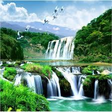 <b>Beibehang</b> HD <b>custom any size</b> photo wallpaper 3d waterfall ...
