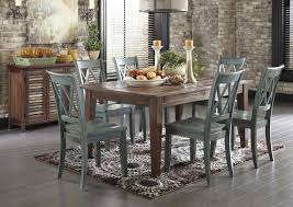 chair dining room tables rustic chairs: ashley mestler dining table with  chairs and sideboard rustic dining room