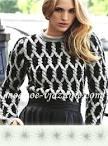 Вязание пуловер двухцветный