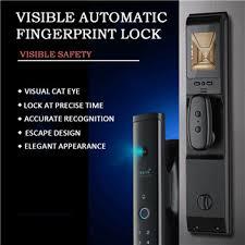 WAFU Automatic intelligent <b>door</b> lock with screen cat eye <b>fingerprint</b> ...