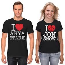 Футболки парные <b>Джон Сноу И</b> Арья Старк #2714866 за 2 299 ...