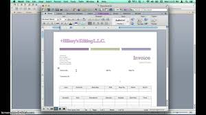 creating invoices using microsoft word templates
