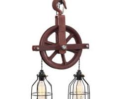 weathered pulley lght industrial chic architecture steampunk lighting urban furniture urban fixture industrial furniture boho chic industrial furniture