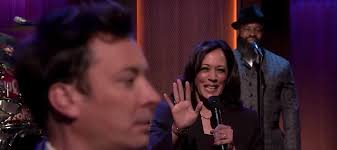 Kamala Harris slow-jams the news with Jimmy Fallon and the Roots