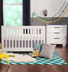 babyletto 2 piece nursery set modo 3 in 1 convertible crib and dresser changer in white free shipping babyletto furniture