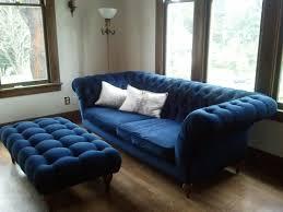 blue sofas living room: eclectic style peacock blue velvet sofa lloyd flanders brand full size