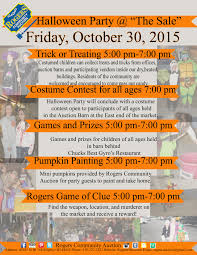 happy halloween party rogers community auction open air market halloween party flyer