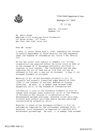 dos document production cover letter aclu v dod no 1 04 cv of 2