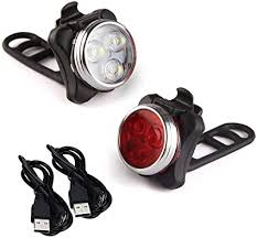Arespark LE Rechargeable <b>LED Bike Light Set</b>, Headlight Taillight ...