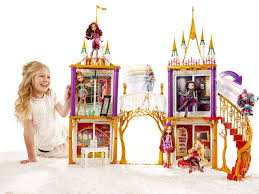 buy now ever after high in castle playset bentzen s emporium open this book to reveal a play set that transforms from fairytale castle to ever after