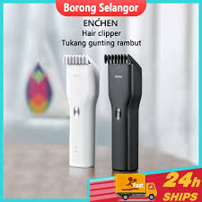 Ready Stock  Xiaomi <b>Enchen Boost</b> hair clipper Electric <b>USb</b> ...
