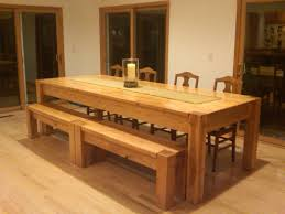 Square Kitchen Table With Bench Modern Dining Table With Bench Stylish Dining Tables With Bench