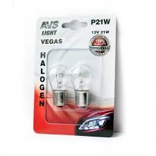 <b>Лампа AVS Vegas</b> в блистере 12V. <b>P21W</b>(BA15S)- 2шт.