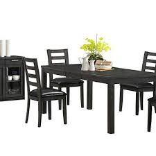 kitchen table sets bo: charcoal grey black leather look quoth side chair set