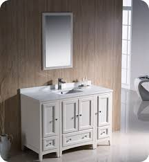 traditional style antique white bathroom: fresca fvn aw oxford quot traditional bathroom vanity with  side cabinets in antique