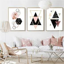 <b>Geometry Abstract</b> Canvas Poster <b>Minimalist Wall</b> Art Prints Home ...