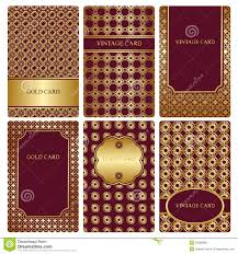 gold business cards templates stock photography image 13340742 set of gold business card templates stock photo