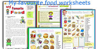 english teaching worksheets  my favourite food