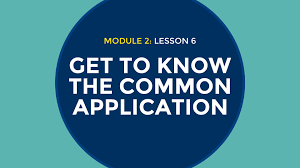 get into college getting to know the common application get into college 2 6 getting to know the common application