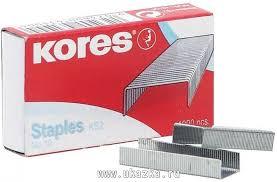 """<b>Скобы для</b> степлера N10 """"<b>Kores</b>"""" никелированные (2-20 листов ..."""