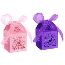 <b>50pcs</b> Party Wedding Favor Candy Box With Ribbon <b>Laser</b> Cut Love ...