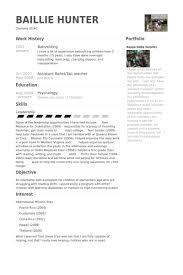 babysitters resume   employment goals resume babysitting resume    babysitting exemplo cv