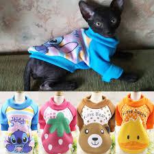 Cartoon <b>Cat</b> Costumes Autumn Winter <b>Warm Cotton</b> Pet Coat Jacket ...