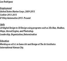 resumeleo rodriguez employment united states marine corps    cashier   o