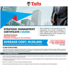 strategic management certificate course tufts management strategic management certificate course