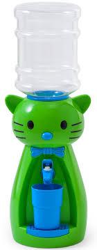 <b>Кулер</b> для воды <b>Vatten</b> Kids Kitty, зеленый, со стаканчиком