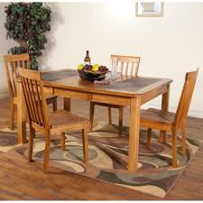 rustic oak dining tables sedona slate top dining table amp chairs in rustic oak sunny throughou