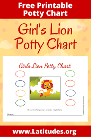 potty training chart girl s lion acn latitudes girl s lion potty chart