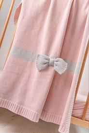 Одеяло <b>Bizzi Growin</b> Bow Detail 70*90 вязанное BG034