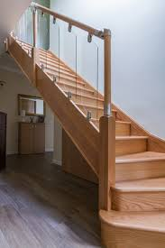 wwwstockwell ltdcouk 3 kite bottom winder oak staircase with bespoke glass staircase