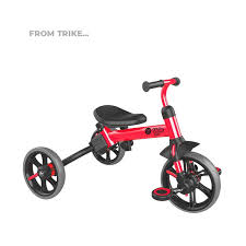 Ages <b>2</b>-5 Years <b>Yvolution</b> Y <b>Velo Flippa</b> 4-in-1 Toddler Trike to ...