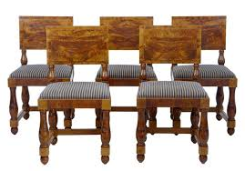 set of 5 art deco period pine dining chairs art deco dining chairs