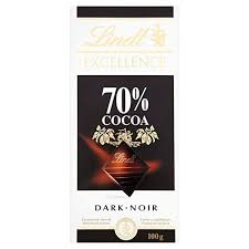 Lindt Excellence <b>70</b>% Cocoa <b>Dark Chocolate</b>, 2 X 100 G: Amazon.in ...