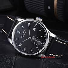 <b>42mm PARNIS black dial</b> date window automatic STYLISH MENS ...